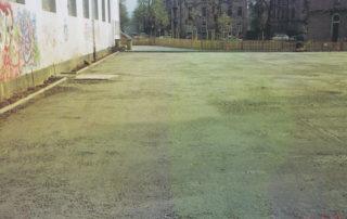 Umgestaltung der Außenanlagen der Pohlandschule in Dresden 1994