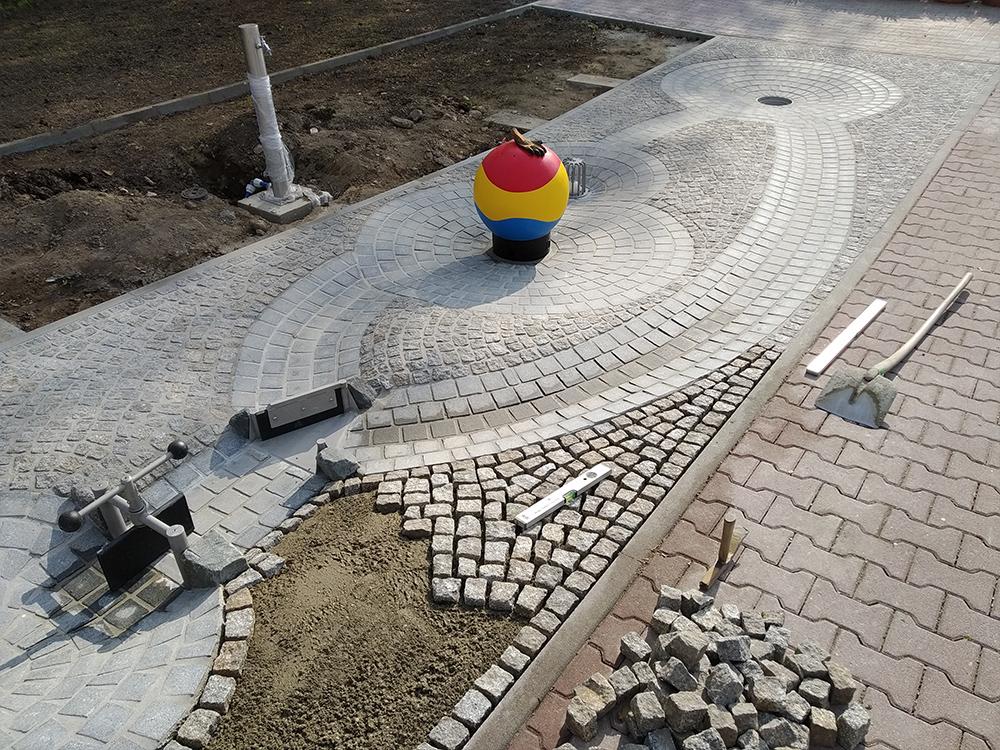 Wasserspielplatz im Heidenauer Albert-Schwarz-Bad während der Bauphase 2018/2019