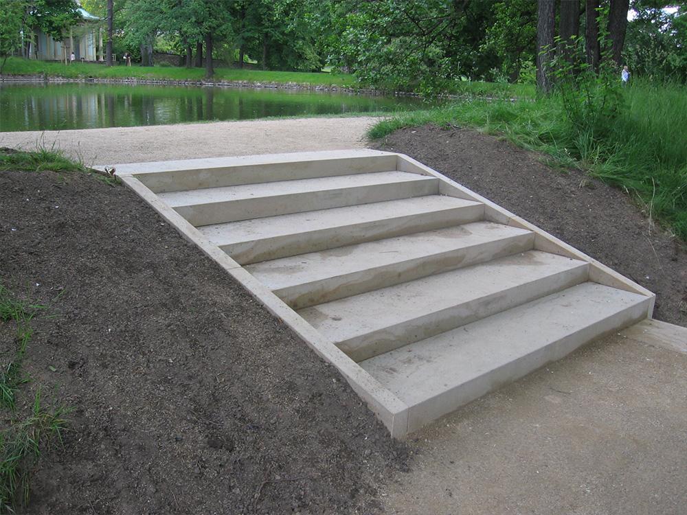 Sanierte Treppe im Dresdner Schlosspark Pillnitz 2005