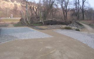 Sanierung des Bienert-Wanderweges im Rahmen des Stadtteilentwicklungskonzeptes Weißeritz in Dresden im Jahr 2006