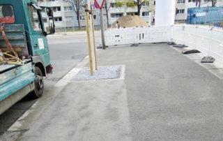 Ansicht der Wassergebundenen Wegedecke während der Bauphase
